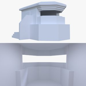 bunker blender post 3d obj