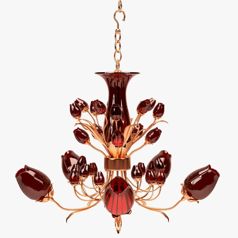 max chandelier colored glass