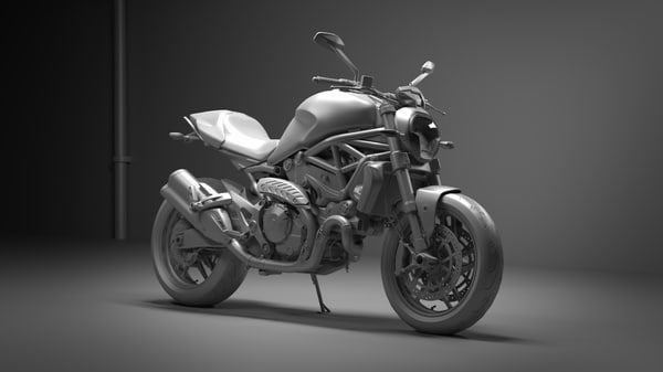 ducati monster 821 3d obj