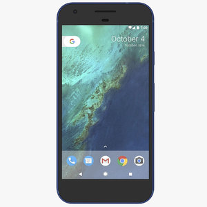 3d google pixel really blue