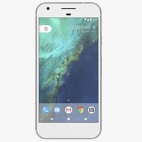 google pixel silver 3d obj