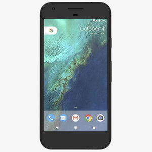 google pixel quite black 3d model