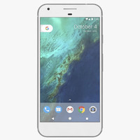 3d google pixel xl silver model