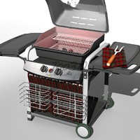 barbecue bbq 3d c4d