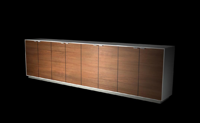long cupboards unit 3d fbx