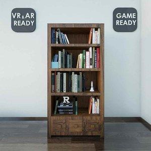 3d furniture bookshelf games