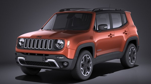 3d model 2017 jeep renegade