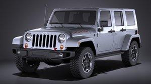 3d model jeep wrangler rubicon
