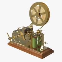 3d model old morse telegraph