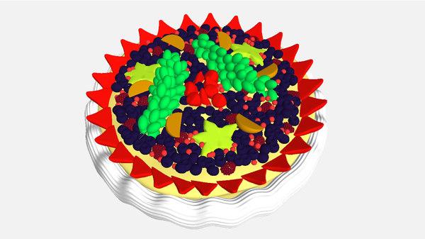 fruit cake 3d model