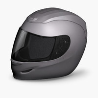 helmet gray colors 3d model