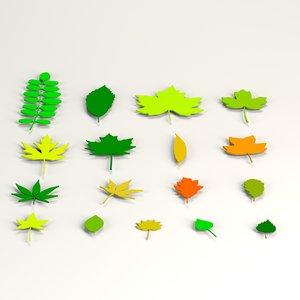 3d model of tree urban leaf
