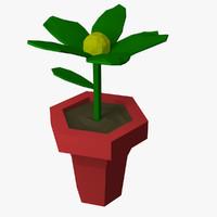 free flower pot 3d model