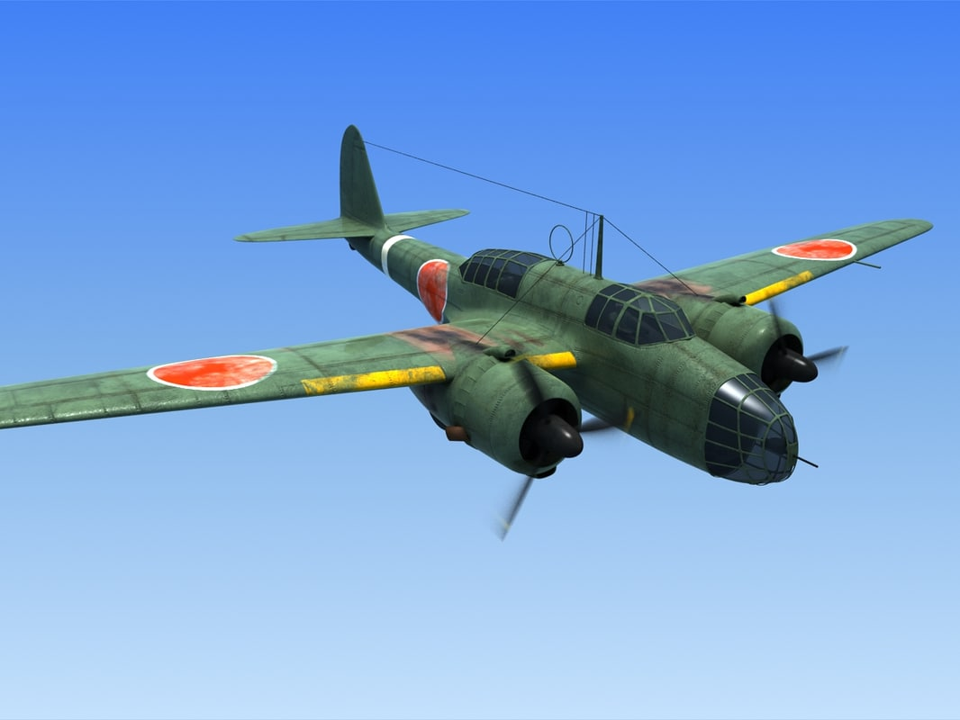 3d model ww2 kawasaki ki48 fighter airplane