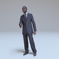 kenyan businessman greeting people human 3d model