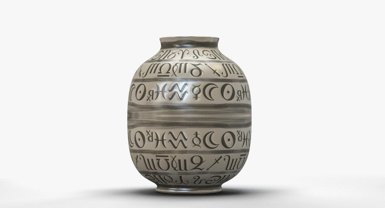 obj ceramic vase zodiac