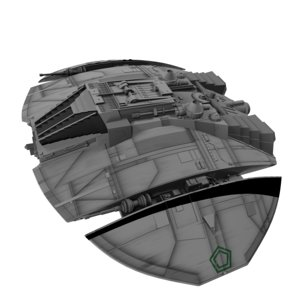 3d cylon raider battlestar galactica model