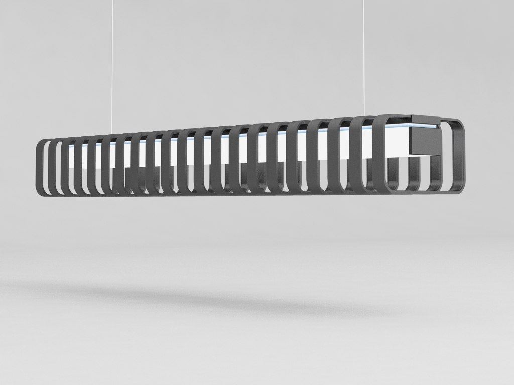 3d spine lamp dark model