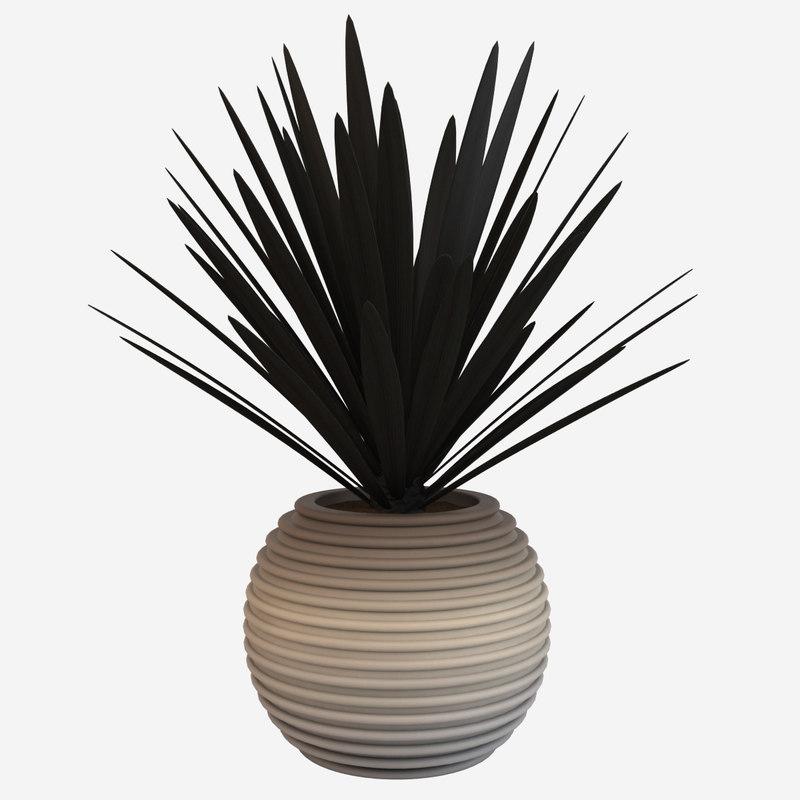obj decorative pot plant