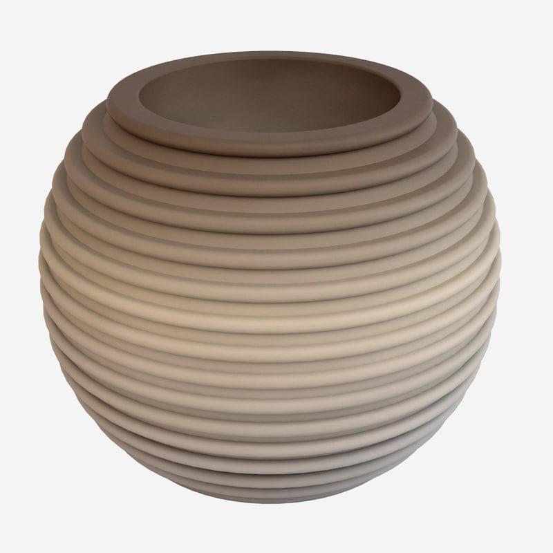 decorative pot 3d max