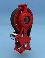 belt gear 3d model