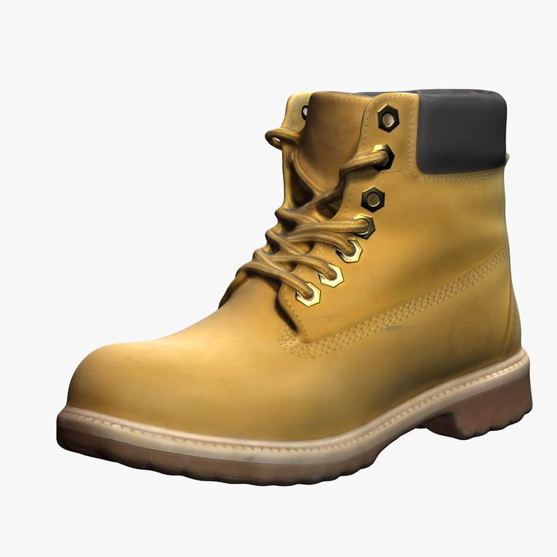 3d mens boots 2 model