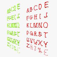 letter light 3d max