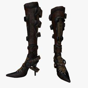 3d model fantasy boots