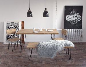 3d loft table chair