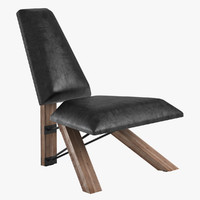 armchair hahn chair 3d model