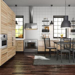 3d model ikea metod kitchen torhamn