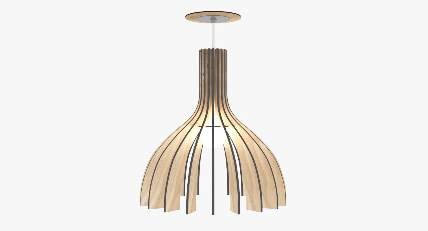 3d wooden chandelier
