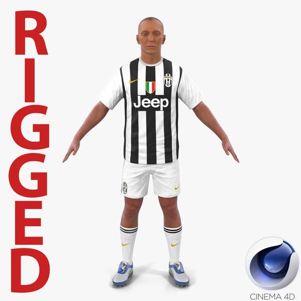 soccer player juventus rigged c4d
