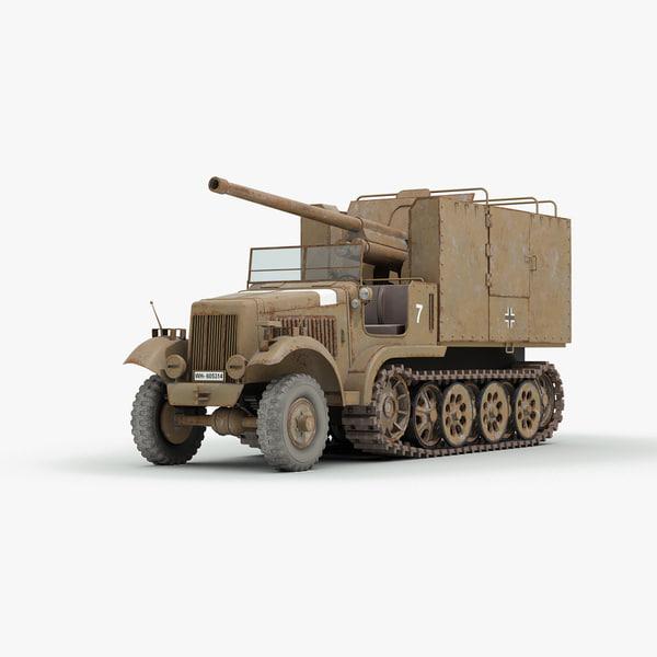 ww2 german sdkfz 6 3d 3ds