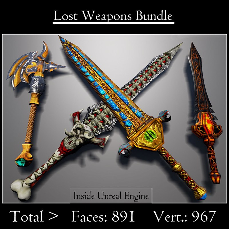 3d max lost weapons pack