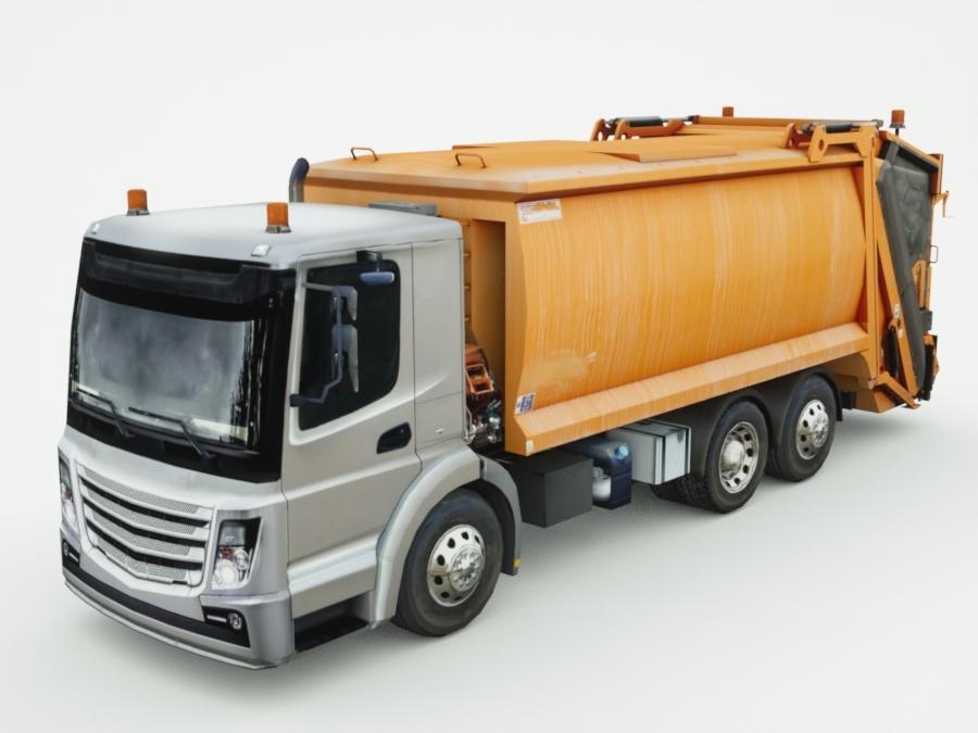 generic garbage truck 3d c4d