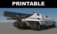 Sci-Fi Tank Concept Printable