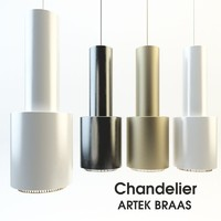 3d chandelier artek braas model