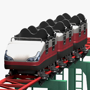 3d model roller coaster wagon