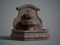 3d arch wall fountain model