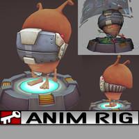 rig 2014 animation 3d model