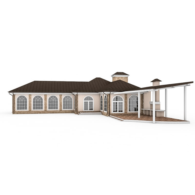 3d 3ds wood gazebo swimming pool