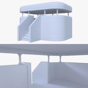 3d bunker blender post