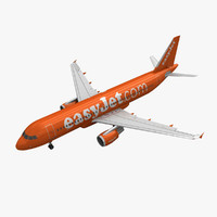 airbus a320 easyjet animation max