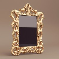 antique photoframe 3d model