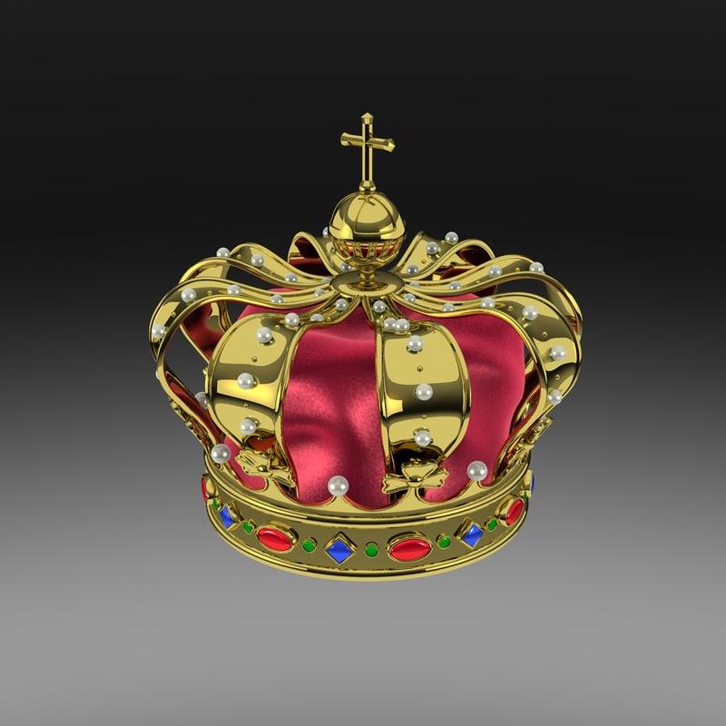 dutch royal crown 3d model