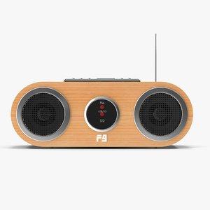 modern radio 3d model