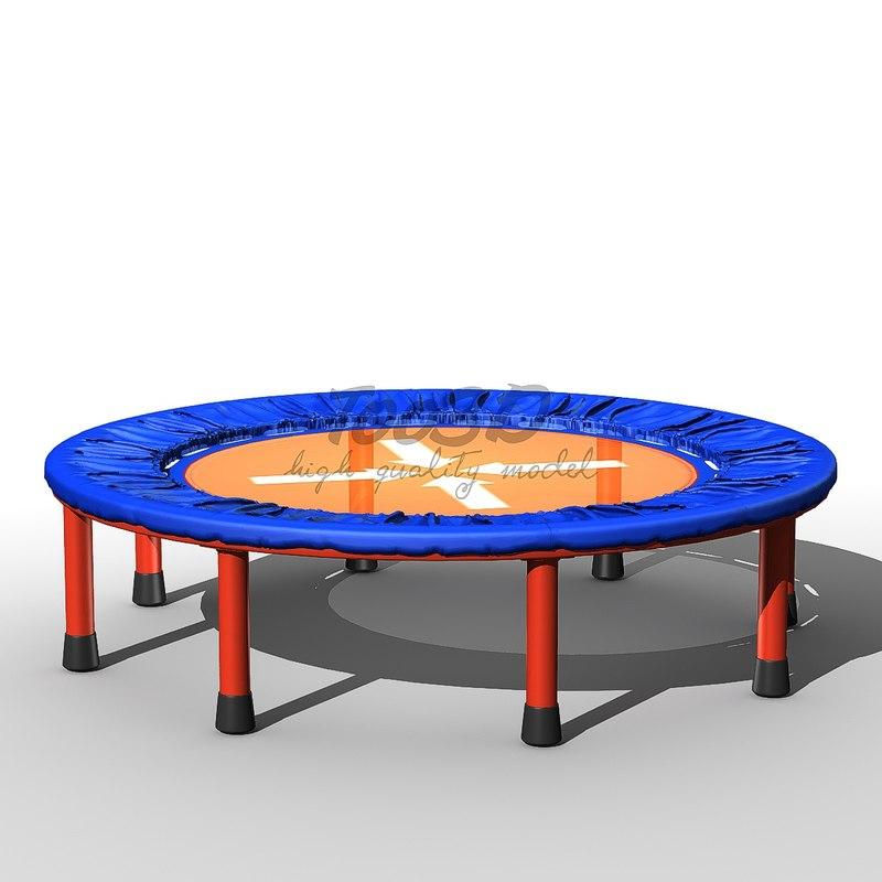 small trampoline 3d model