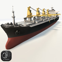 Bulker ship HD low poly