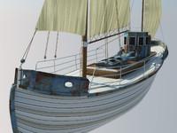 3d model odessa fishing boat